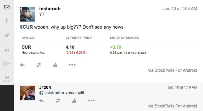 stocktwits reverse stock split chat